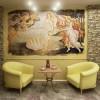 Фрески на стену в современном интерьере