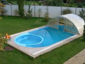 Строим бассейн на даче.